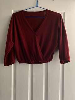 Maroon loose top