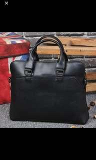 🚚  ✔️INSTOCK! Formal Black Laptop Briefcase Bag - Mens Laptop bag - Ipad Pro Bag - crazy horse leather bag - Minimalist Black office  bag