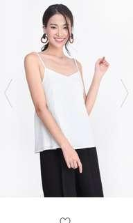 Fayth Asher Textured Top in White