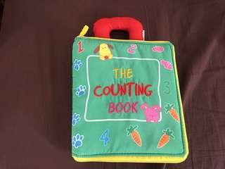Baby toy cloth book (the counting book)