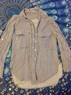 Petal and pup stripe shirt size S
