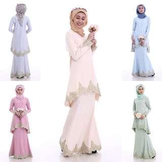 ALEN LACE KURUNG bridesmaid nikah khawin kawin aileen dress baju muslimah jubbah juban abaya abayah majlis tunang