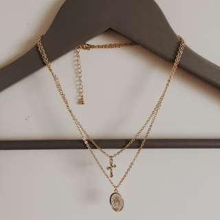 2 layer gold necklace