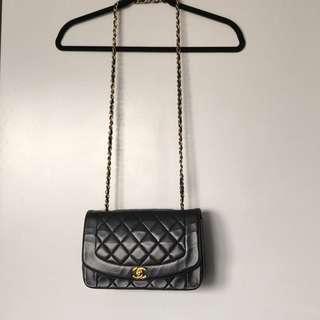 Chanel Black Lambskin Diana Medium Flap Bag