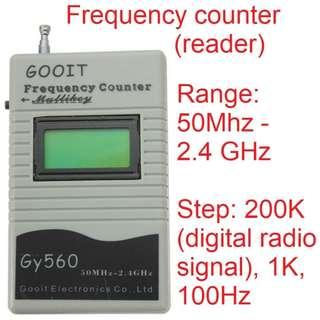 🚚 Frequency Test Device for Two Way Radio Transceiver GSM 50 MHz-2.4 GHz GY560 Frequency Counter Meter