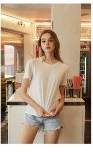 Brand New In Bag Round Neck White Tee