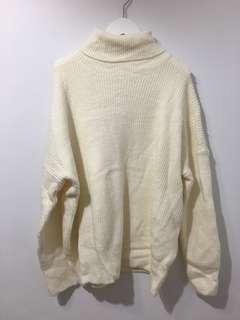 韓版 全新 針織 厚 高領 毛衣