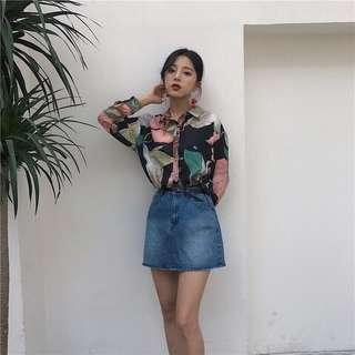 Korean Style Summer Floral Blouse (2552)