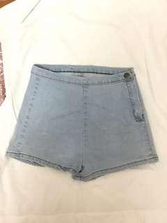 High waist shorts light blue