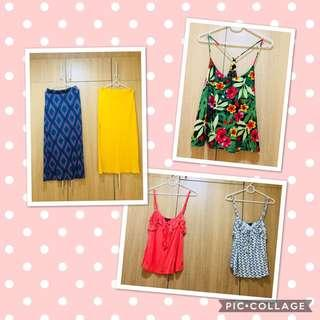 tops and skirts (take all)