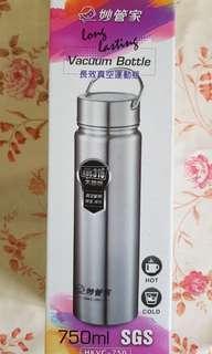 【翔玲小舖】妙管家750ml長效真空運動瓶/保溫瓶/保溫杯內層316級不鏽鋼