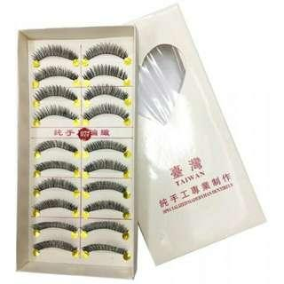 10pieces Taiwan False eyelash with Pandikit