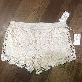 F21 crochet shorts FOR GIRLS