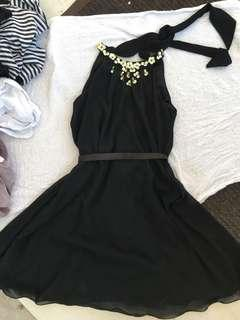 Black Dress halter neck
