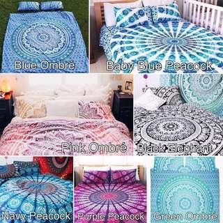 INSTOCK Queen Size Mandala Bedsheet Flat sheet set