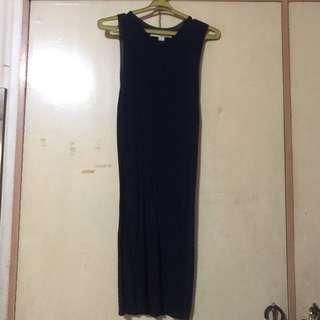 F21 navy knit dress