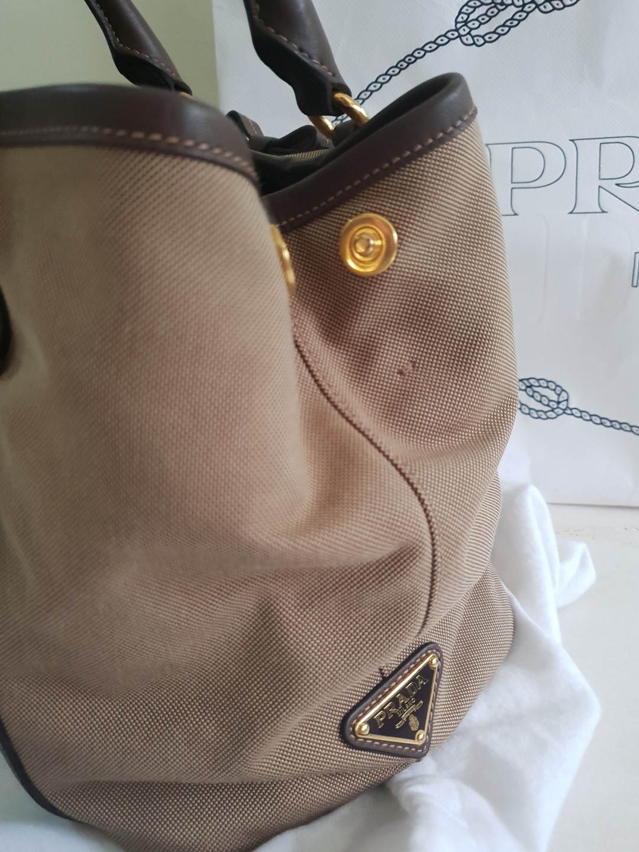 e1cb852922d 100% authentic Prada Jacquard Canvas Tote, Women's Fashion, Bags ...
