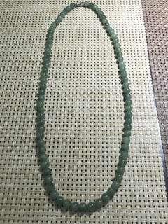Type A Jadeite oil green necklace
