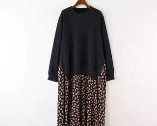 Brand New Boho Fake 2 Piece Dress
