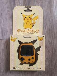 🚚 稀少 日本製 任天堂 POCKET PIKACHU 神奇寶貝 皮卡丘計步器 非 數碼寶貝 怪獸對打機