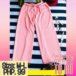 Pastel Pink Striped Square Pants