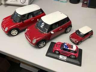 4x Mini Cooper Die casts