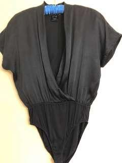 Authentic ESCADA black silk body suit