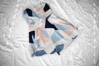 Geometric playsuit
