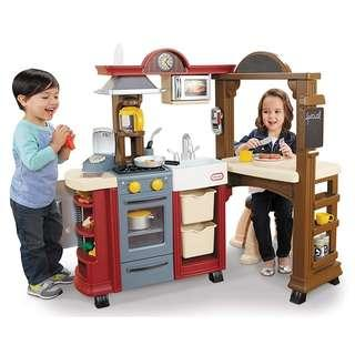 (PO) BN Little Tikes Ultimate Kitchen and Restaurant Play Set w/ Cooking Utensils & Accessories