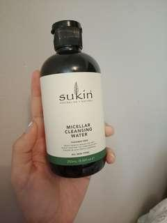 Sukin micellar cleansing water with chamomile, vanilla and cucumber