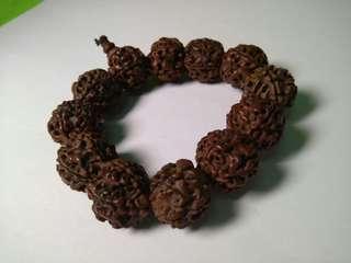 vintage wooden wood bead bracelet antique