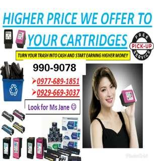 We offer a higher price to your cartridges