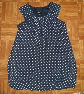 [PRELOVED] BCX Girl Blue Polka Top