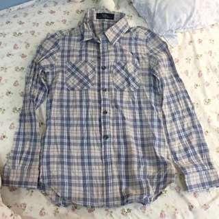 Baby藍粉薄襯衫