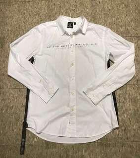 Fingercroxx white 👔 shirt size L