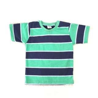 Kaos anak salur hijau