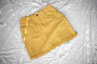 NEW | Yellow denim skirt