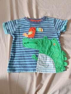 🚚 二手mothercare❤️男童鱷魚🐊上衣 12-18m