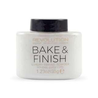Ready stock Makeup Revolution - Revolution Bake And Finish Powder 35g