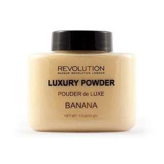 Ready Stock Makeup Revolution - Revolution Luxury Banana Baking Powder 42g