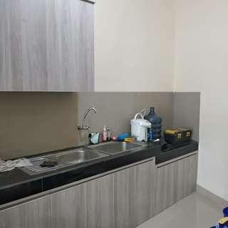 Mini bar, kitchen set, lemari baju, lemari bawah tangga