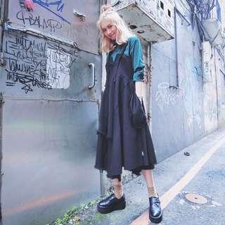 Slightly Numb黑色傘狀洋裝
