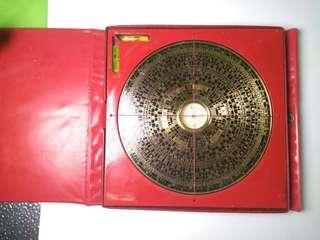 vintage collectible Chinese map compass