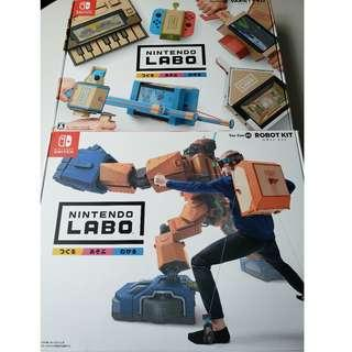 Nintendo Switch Labo Variety Kit & Robot Kit (100% New, Never Opened)