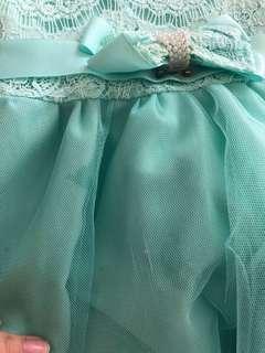 Dress baby hijau mint