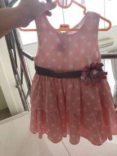 Dress pink polkadot pita