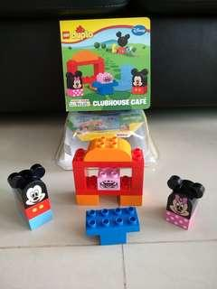 Preloved Duplo Lego read & build clubhouse cafe set