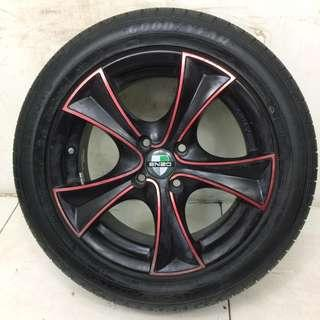 "15"" Sports Rim With Tyres 4x100 (SR1424)"