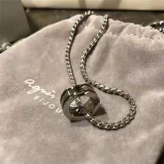 🚚 Agnes b 情侶款 男女可戴項鍊 戒指項鍊