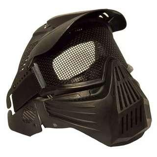 BN 3rd Party Full Face Mask Protection Black Color NOT Nerf Hasbro TRU